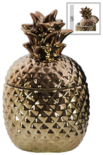 UTC44205 Ceramic 20 oz. Pineapple Canister SM Gloss Finish Copper
