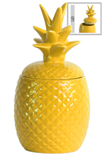 UTC44208 Ceramic 40 oz. Pineapple Canister LG Gloss Finish Yellow