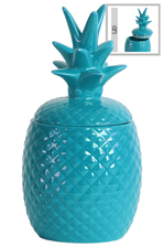 UTC44209 Ceramic 40 oz. Pineapple Canister LG Gloss Finish Blue