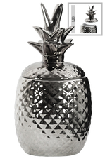 UTC44210 Ceramic 40 oz. Pineapple Canister LG Polished Chrome Finish Silver