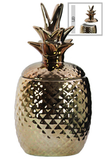 UTC44211 Ceramic 40 oz. Pineapple Canister LG Gloss Finish Copper
