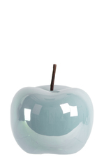 UTC44303 Ceramic Apple Figurine SM Pearlescent Finish Blue