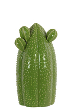 UTC44413 Ceramic Tall Bishop's Cap Cactus Figurine SM Gloss Finish Green