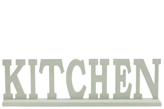 "UTC46033 Wood Alphabet Decor ""KITCHEN"" on Base Coated Finish Sage"