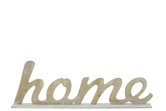 "UTC46036 Wood Alphabet Decor Cursive Writing ""HOME"" on Base Washed Finish Tan"