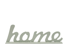 "UTC46037 Wood Alphabet Decor Cursive Writing ""HOME"" on Base Coated Finish Sage"