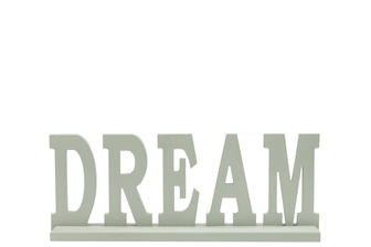 "UTC46039 Wood Alphabet Decor ""DREAM"" on Base Coated Finish Sage"