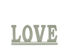 "UTC46041 Wood Alphabet Decor ""LOVE"" on Base Coated Finish Sage"