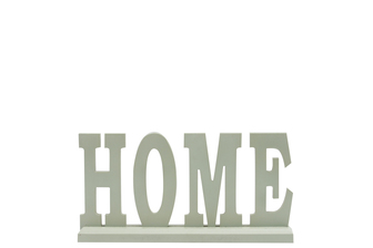 "UTC46043 Wood Alphabet Decor ""HOME"" on Base Coated Finish Sage"