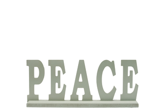 "UTC46045 Wood Alphabet Decor ""PEACE"" on Base Coated Finish Sage"