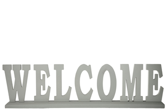 "UTC46047 Wood Alphabet Decor ""WELCOME"" on Base Coated Finish Sage"