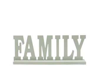 "UTC46049 Wood Alphabet Decor ""FAMILY"" on Base Coated Finish Sage"