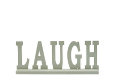 "UTC46053 Wood Alphabet Decor ""LAUGH"" on Base Coated Finish Sage"