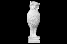 UTC46753 Ceramic Standing Owl with Long Legs Figurine on Base Gloss Finish White
