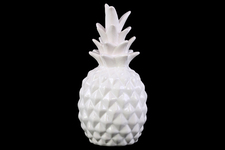 UTC46908 Ceramic Pineapple Figurine Gloss Finish White
