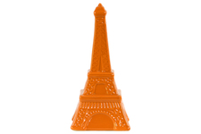 UTC46949 Ceramic Eiffel Tower Figurine LG Gloss Finish Orange
