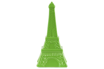 UTC46950 Ceramic Eiffel Tower Figurine LG Gloss Finish Green