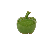 UTC50610 Ceramic Apple Figurine SM Gloss Finish Yellow Green