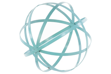 UTC60923 Metal Orb Dyson Sphere Design Decor (5 Circles) Coated Finish Cyan