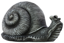 UTC67064 Fiberstone Snail Figurine Gray Washed Finish Gray