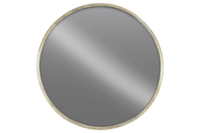 UTC67092 Metal Round Wall Mirror LG Tarnished Finish Champagne