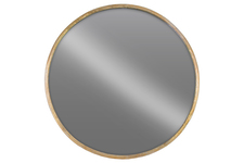 UTC67093 Metal Round Wall Mirror LG Tarnished Finish Gold