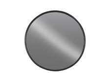UTC67094 Metal Round Wall Mirror SM Tarnished Finish Black