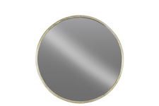 UTC67095 Metal Round Wall Mirror SM Tarnished Finish Champagne