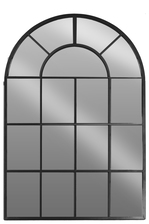 UTC67097 Metal Arched Window Pane Leaner Metallic Finish Black
