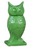 UTC73075 Ceramic Owl Figurine/Vase on Base Gloss Finish Pale Green