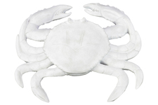 UTC73171 Resin Crab Figurine LG Matte Finish White