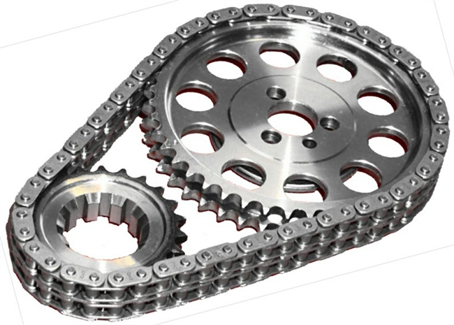 ROL-CS1040 Rollmaster - Timing Chain Set - Double Roller - SBC V8 262-400 - Red Series