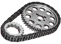 ROL-CS1120 Rollmaster - Timing Chain Set - Double Roller - SBC V8 282-400 BBC Snout Raised Cam - Gold Series