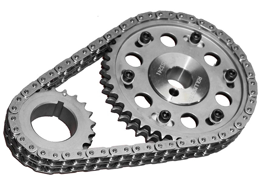 ROL-CS3241 Rollmaster - Timing Chain Set - Double Roller - SBF 302/351W  CARB - Gold Series