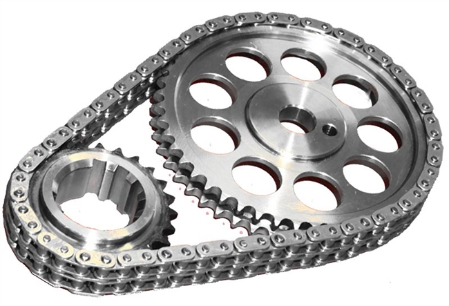 ROL-CS7040 Rollmaster - Timing Chain Set - Double Roller - Pontiac V8 403 - Red Series