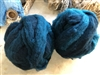 Farm Dyed Roving, Teal over Gray, 2 oz bundle