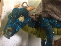 Adrian, a needle felted dragon