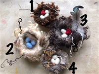 Needle Felted Nests