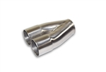 2 into 1 Slip on Merge Stainless Steel Collector