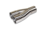"2 1/8"" 2 into 1 Slip on 304 Stainless Steel Merge Collector"