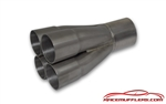 "2 1/8"" Primary 4 into 1 Straight Exit Merge Collector"