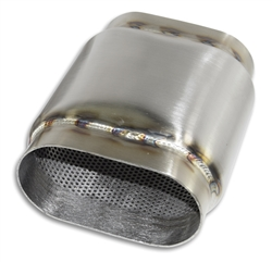 "4"" Oval x 8"" Long- Oval Bullet Race Muffler"