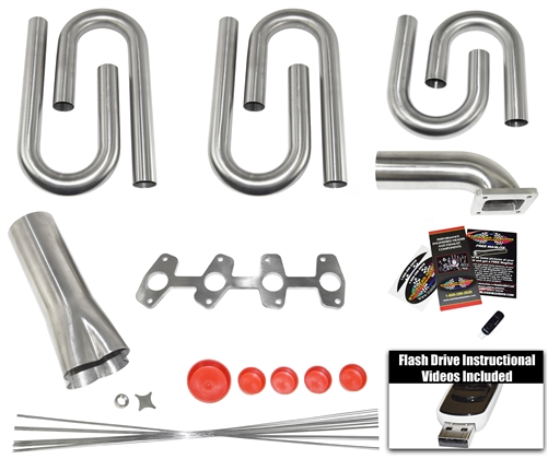Chevy S10/GMC Sonoma 2 2L Custom Turbo Header Build Kit