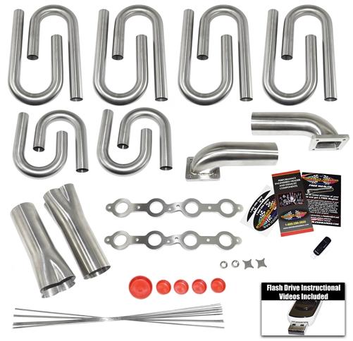 Chevy-GM LS Turbo Header Build Kit