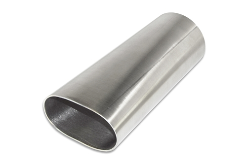 "3 1//2"" 304 Stainless Oval To Round Exhaust Tubing Transition American Made"