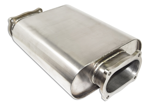 Stainless Steel Oval Low Profile Muffler
