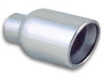 "4"" Round Stainless Steel Tip (Double Wall, Angle Cut)"