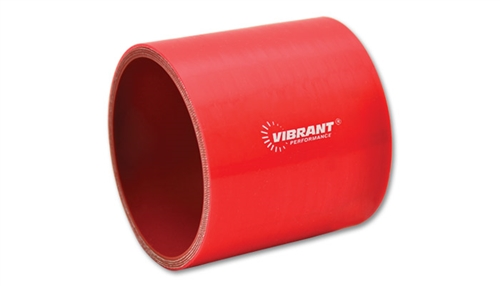 """Black 3/"""" Long 3.5/"""" ID Vibrant 2716 4 Ply Reinforced Silicone Hose Coupler"""