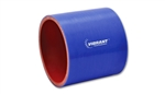 "Vibrant 2726B Straight Hose Coupler, 1.25"" I.D. x 3"" long - Blue"