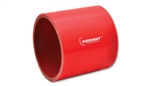 "Vibrant 2726R Straight Hose Coupler, 1.25"" I.D. x 3"" long - Red"